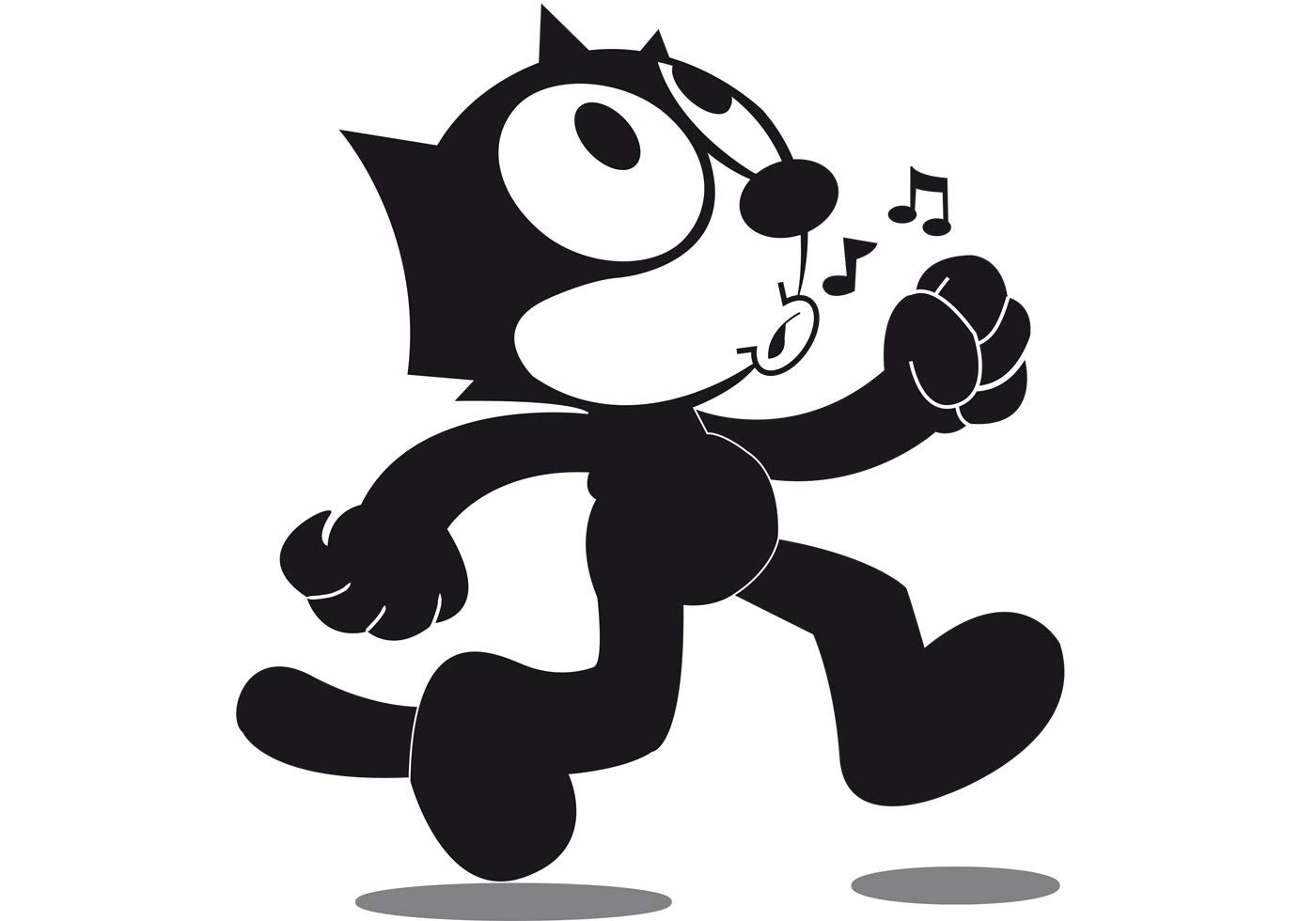 Felix The Cat Whistle and Walk