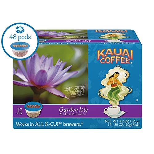 Kauai Coffee Single-serve Pods, Garden Isle Medium Roast - 100% Premium Arabica Coffee from Hawaii's Largest Coffee Grower, Compatible with Keurig K-Cup Brewers - 48 Count from Kauai Coffee