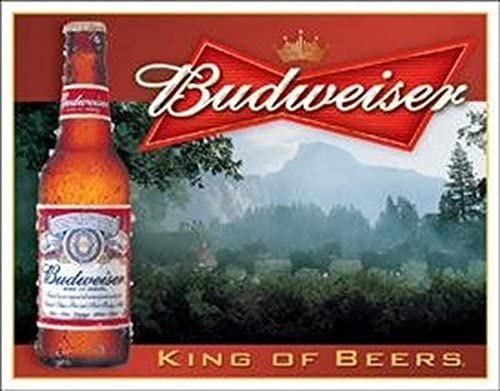 Budweiser Cartel Metálico Anuncio King Of Beers 40x30cm ...