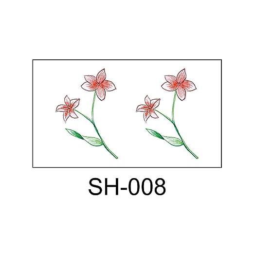 zgmtj Adhesivo de Tatuaje pequeño y Fresco SH-008 105x60mm: Amazon ...
