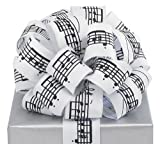Black Musical Notes White Ribbon 20 yards 1.5'' wired Bow Craft Decor Music Gift