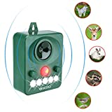 #9: Wikoo Ultrasonic Animal Repeller, Solar Powered Pest Repeller, Waterproof Outdoor Repellent with Motion Activated PIR Sensor, Repel Dogs, Cats, Squirrels and more (APR-03)
