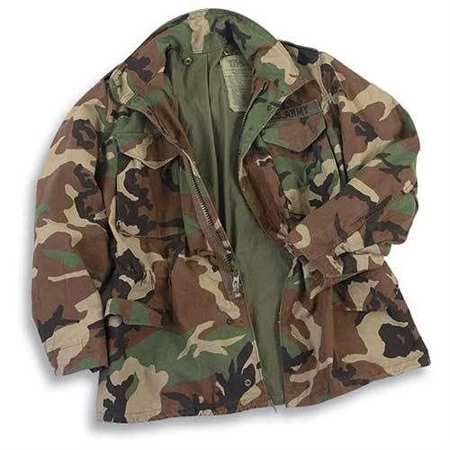 Nwts Woodland M-65 Field Jacket Extra Small Long Bdu Cold Weather Army Tactical