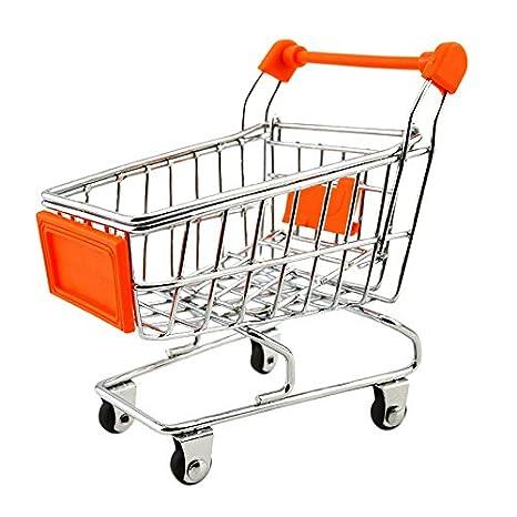 Carrito de compras - SODIAL(R) Mini carro de compras para los ninos 11cm x 8cm x 11.5cm naranja: Amazon.es: Hogar