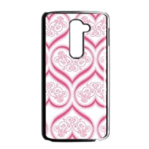 LG G2 Cell Phone Case Black Enchanted Hearts LSO7859954