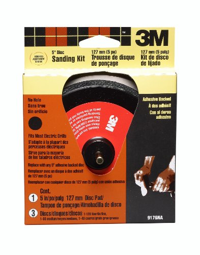 (3M 9176 5-Inch Disc Sander Kit Adhesive Backed, 1-kit)