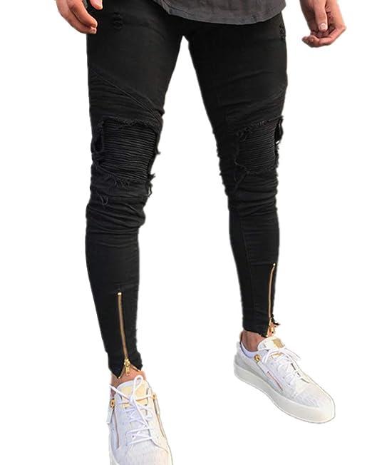 Suncaya Hombre Transpirable Super Skinny Fit Pantalones ...