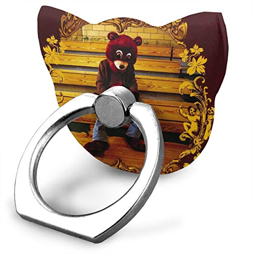 EdithL Kanye West The College Dropout Cellstand Finger Ring Stand Holder, Car Mount 360 Degree Rotation Universal Phone Ring Holder Kickstand for iPhone/iPad/Samsung
