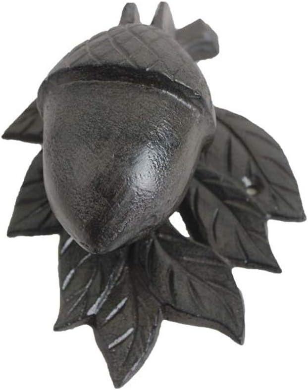 NgMik Llamador de la Puerta Retro Tirador de la Puerta del Golpe de Metal Fundido de Hierro Aldaba Acorn jardinería artesanía decoración del hogar alertarte de visitantes a su hogar
