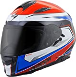 Scorpion EXO-T510 Tarmac Street Bike Motorcycle Helmet - Red/Blue / X-Large