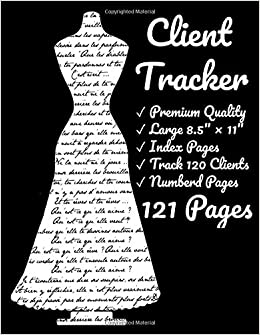 Client Tracker Tailor Client Record Book Client Data Organizer Customer Log Book Client Profile Tracker Book Sewer Dressmaker Sewing Client Pages Index Section Track Your Customer Journals Co Client Notes