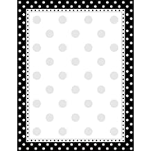 "Barker Creek 8-1/2 x 11"" Designer Computer Paper, Black & White Dot, 50-Sheets (LL-717)"