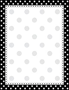 "Barker Creek - Office Products 8-1/2 x 11"" Designer Computer Paper, Black & White Dot, 50-Sheets (LL-717)"