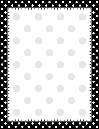 "Barker Creek 8-1/2 x 11"" Designer Computer Paper, Black & White Dot, 50-Sheets (LL-717)"