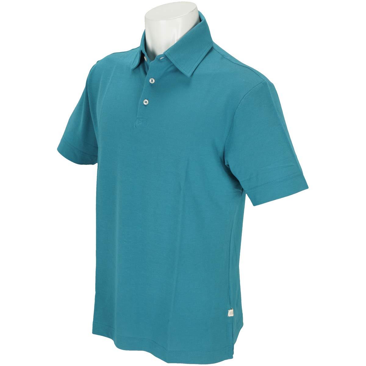 モコ MOCO 半袖シャツポロシャツ スイスコットン半袖ポロシャツ L ブルー B07QP8V3G5