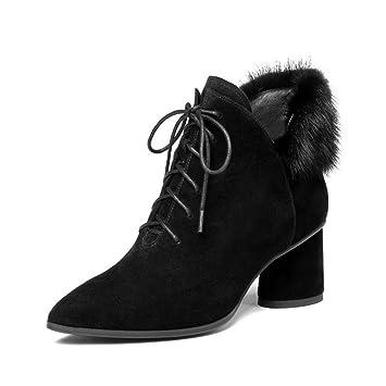 09e83167ea4 Amazon.com: Women's Shoes, 2019 Autumn Winter New Leather Ankle ...
