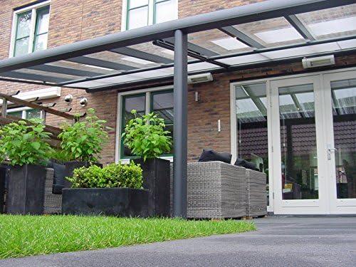 Aluminio Terraza Techo 5060 X 3000 (7016 St): Amazon.es: Jardín