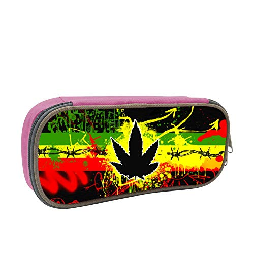 SsSEYYA Mary Jane Weed Trippy Pencil Bag Makeup Pen Pencil Case Big Capacity Pouch Durable Students Stationery with Double Zipper Pen Holder for School/Office (Sonnenbrille, Make-up)