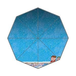 RainbowRain Peanuts With Snow Custom Foldable Umbrella 01