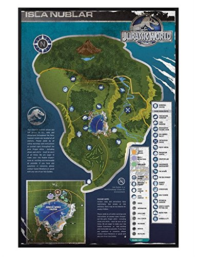 Jurassic world gloss black framed isla nublar map maxi poster 61x91 jurassic world gloss black framed isla nublar map maxi poster 61x915cm gumiabroncs Images