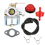 Anzac 640084 Carburetor Carb with Mounting Gasket Fuel Line Primer Blub Clamps for Tecumseh 632107 632107A 640084A 640084B Toro 521 Snow Blower HSSK40 HSSK50 HS50 LH195SA Small Engine Mower Generator