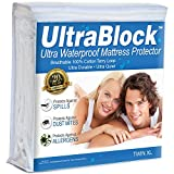 sleep safe twin extra long - UltraBlock Twin Extra Long (Twin XL) Waterproof Mattress Protector - Premium Soft Cotton Terry Cover