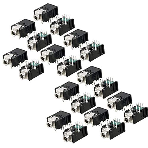 - Yootop 20Pcs DIP PCB Plastic Mount 11 Pins Female 3.5mm/0.137