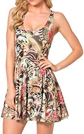 Honors Spring Summer Women Pleated Print sundress