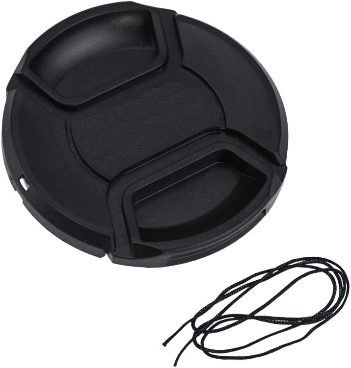 LHIABNN Compatible with Canon Camera Front Lens Protection Cover with Holder Leash 58mm