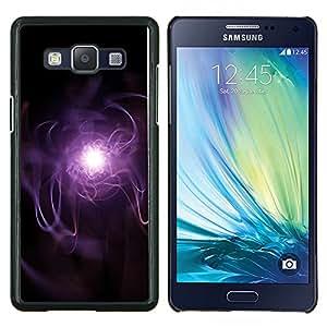 KLONGSHOP // Cubierta de piel con cierre a presión Shell trasero duro de goma Protección Caso - Púrpura Rayo - Samsung Galaxy A5 A5000 //