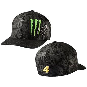 82904b98 Fox Monster Replica Black Flex Fit Hat (Small/Medium) at Amazon ...