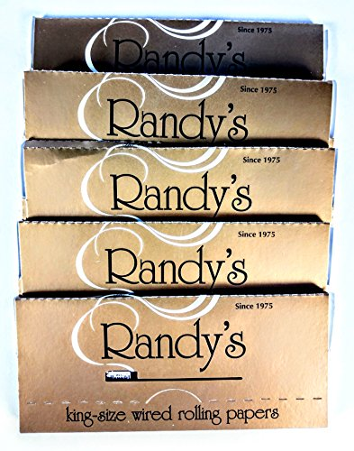 Randys Gold Wired Rolling Papers King Size 5 Packs  100  Organic Vegan