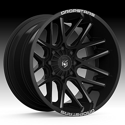 Dropstars 654BM Deep Concave 22×10 8×170 -25mm Black/Milled Wheel Rim
