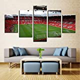 cmhai (No Frame) Living Room Hd Printed Home Decor Painting 5 Piece/Pcs Football Field Sports Stadium Modern Wall Art Pictures Poster