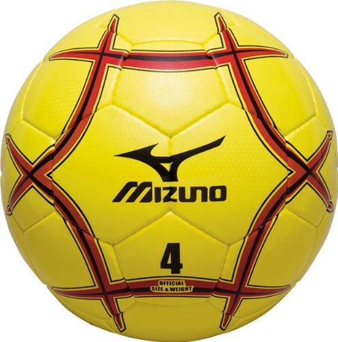 MIZUNO(ミズノ) サッカーボール4号球 120S37037 ライム×レッド×ブラック