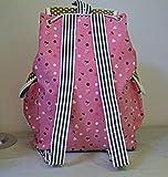 FTSUCQ Girls Canvas Bunny Student Backpack Travel Daypack Tote School Bags Shoulder Rosered Satchels