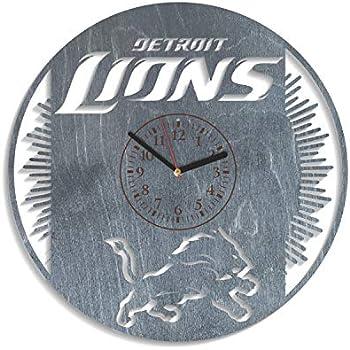 Detroit Lions Sport Wooden Wall Clock Modern Home Office Decor