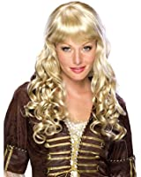 Halloween Costume Adult Wigs Womens Blonde Long Curly Bangs Sexy Hair Wig