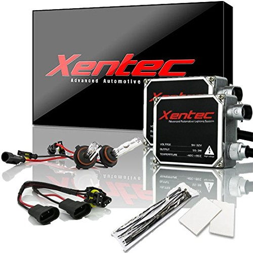 XENTEC 55W Standard Size HID Kit 9005 6000K (HB3/9055/H12, Ultra White) offroad