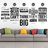 Donald Trump, Henry Ford, Napoleon Hill, Seth Godin, Eric Thomas Inspirational Wall Decal Quotes Set of 5 Collage Sale