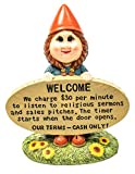 Brashfords Lawn and Garden Gnome Statue Figurine. 8 1/2″ with Funny Welcome Sign for Home Decor. Unique Housewarming Gift for The Home and Garden, Yard, Porch and Lawn use. Review