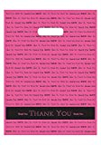 "Arts & Crafts : 9x12 Hot Pink ""Thank You"" Die Cut Handle Plastic Bags 50/cs- Bags Direct Brand"
