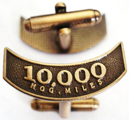 Harley Davidson HOG Motorcycle Mileage Rocker 10K 10000 Miles Replica Cufflinks Cuff Link ()