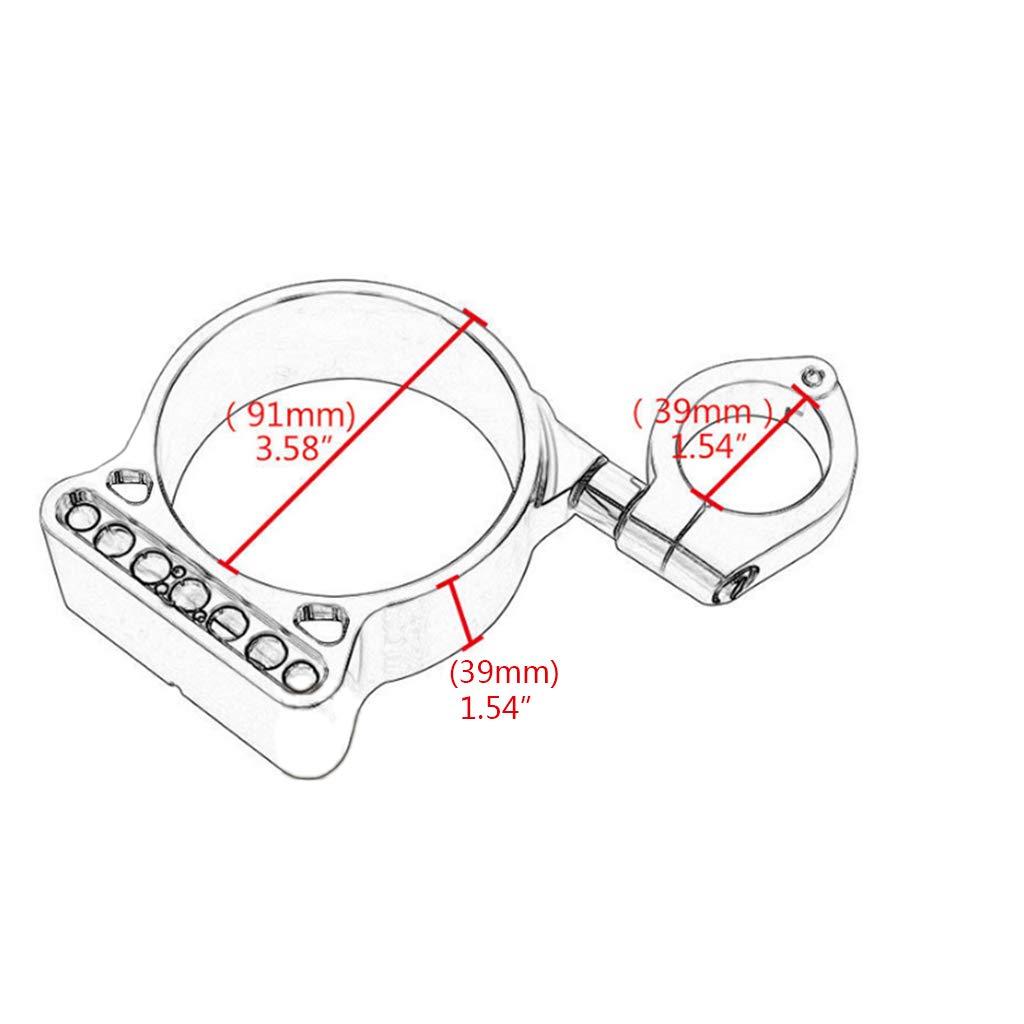 Plata Homyl 1 unidad Montaje de Reubicaci/ón Speedo lateral para Sportster XL883 X1200