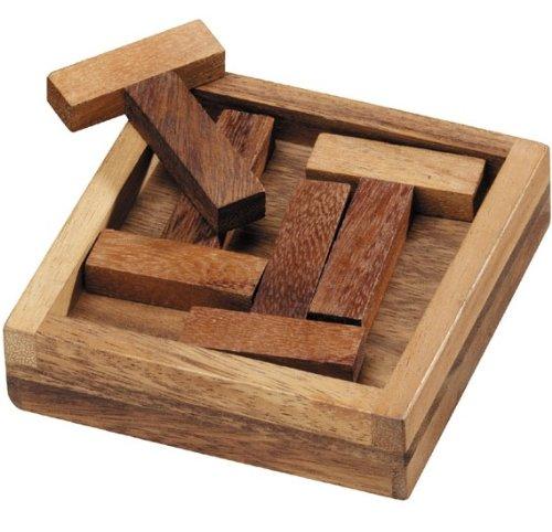 Four T's Wooden Puzzle Brain Teaser