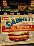 Sabrett All Natural Uncured Beef Franks 14 Oz (4 Pack)