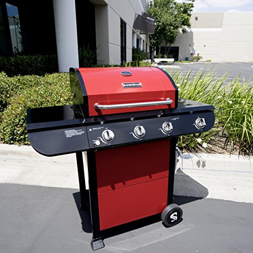 Propane Gas Grill, Stainless Steel Outdoor 3 Burner Barbeque Grills 52,500 Btu