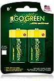 Perfpower Go Green Alkaline Battery, D, 2 Count