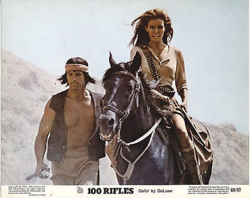 RAQUEL WELCH/100 RIFLES/8X10 ORIGINAL LOBBY CARD CC3412