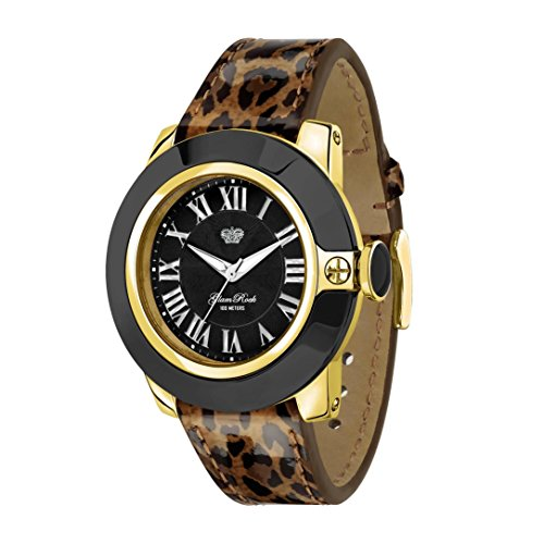 GLAM ROCK WOMEN'S 44MM MULTICOLOR LEATHER BAND SWISS QUARTZ WATCH GR32026